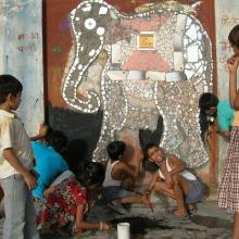 Community mural at Bedla, Rajsthan